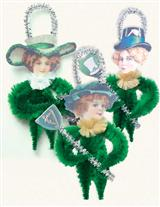 ST. PATRICK'S DAY CHENILLE ORNAMENTS (SET OF 3)