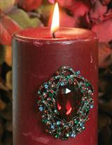 'Pillar Pins' Candle Jewelry (Jewel Hues)
