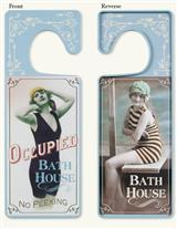 REVERSIBLE BATH HOUSE DOOR HANGER