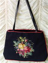 VASSAR NEEDLEPOINT PURSE