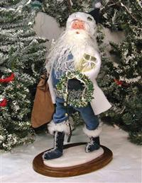 BYERS' CHOICE WALKING IN WONDERLAND SANTA