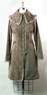 ELIZABETHAN VELVET COAT DRESS