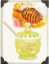 VASELINE GLASS HONEY POT