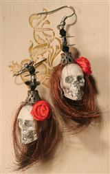 Shrunken Head Earrings