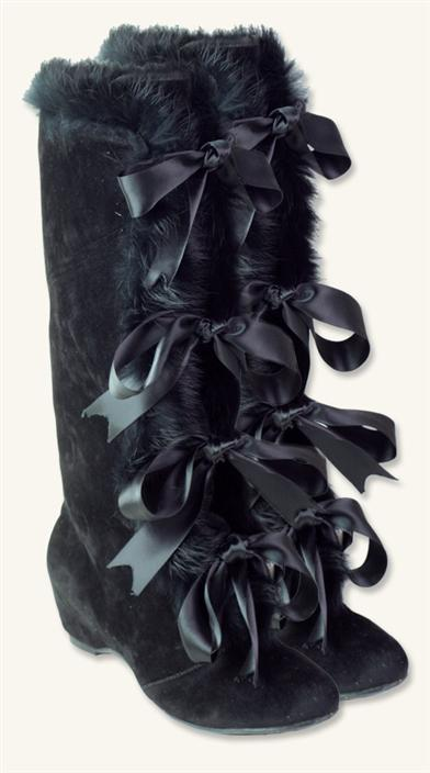 New Authentic Victorian Boots for Women Fur Sleigh Boots $34.99 AT vintagedancer.com