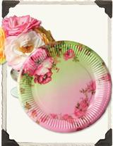COTTAGE PERENNIALS PAPER PLATES (SET OF 16)