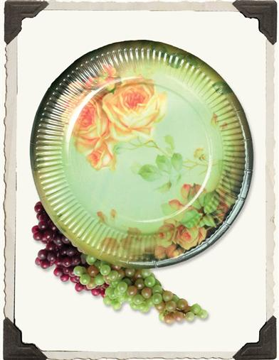 BUTTERY ROSES PAPER PLATES (SET OF 16)