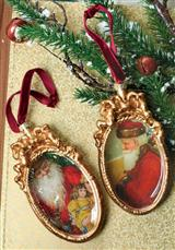 Old White Beard Ornaments (Set Of 2)