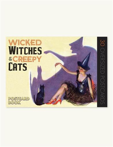 WICKED WITCHES & CREEPY CATS POSTCARD BOOK