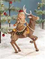 MARY ENGELBREIT'S NORDIC GIRL ON DEER