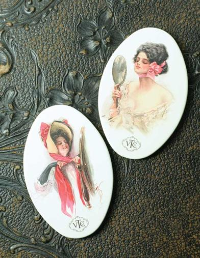HARRISON FISHER PURSE MIRRORS