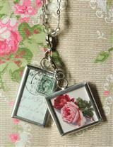 Watercolour Roses Pendants
