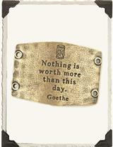 Wide Cuff Quote Plate Goethe
