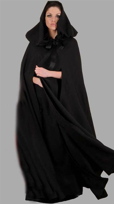 RIDING HOOD BLACK CAPE