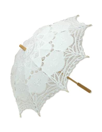 BATTENBURG LACE PARASOL (WHITE)