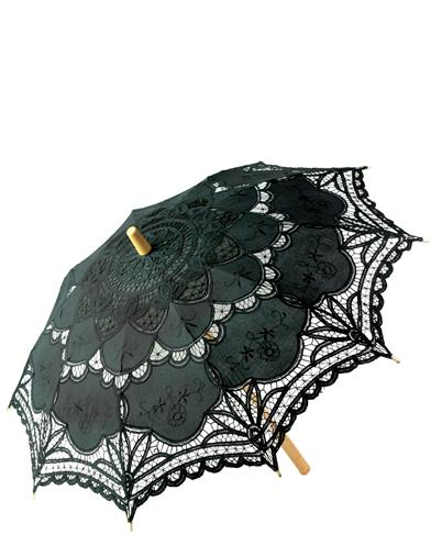 BATTENBURG LACE PARASOL (BLACK)