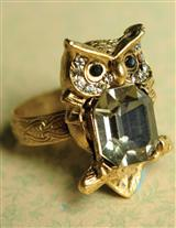 WISE WOMAN OWL RING