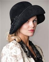 LOUISE GREEN COQUETTE HAT