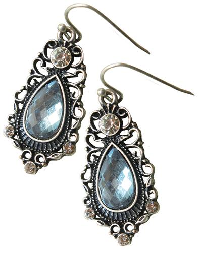 Sapphire Crystal Earrings