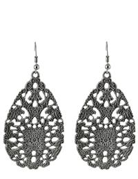 Silvery Lace Earrings