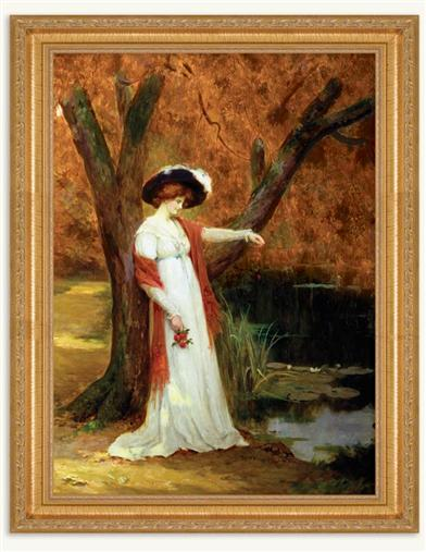 A BEAUTY BY THE LAKE FRAMED PRINT