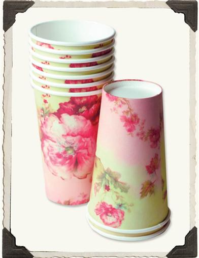 COTTAGE PERENNIALS PAPER CUPS (SET OF 16)