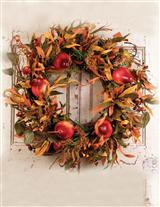 ANJOU PEAR & OLIVE BRANCH AUTUMN WREATH
