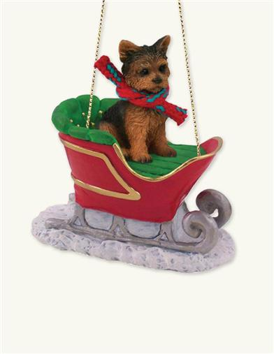 YOUR PET IN A SLEIGH DOG BREED ORNAMENT