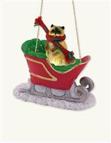 YOUR PET IN A SLEIGH CAT BREED ORNAMENT