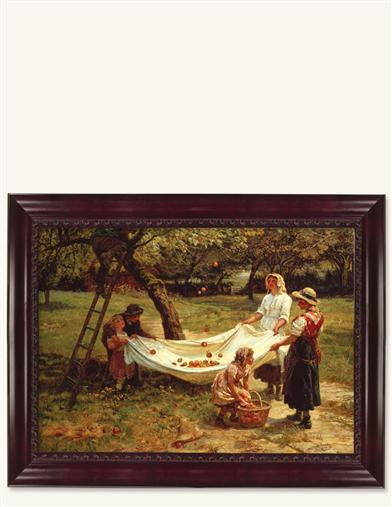 APPLE GATHERERS FRAMED PRINT