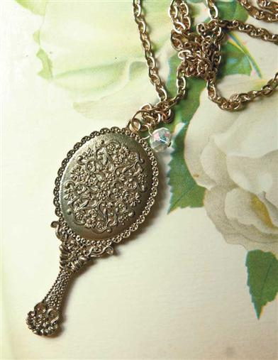FAIREST OF THEM ALL HAND MIRROR PENDANT