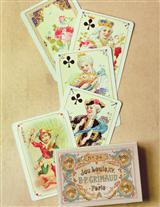 ANTIQUE FRENCH REPLICA PLAYING CARDS
