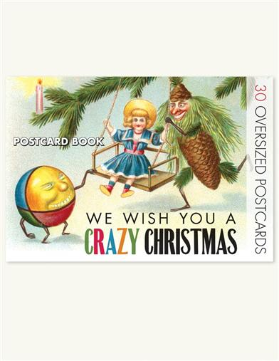 WE WISH YOU A CRAZY CHRISTMAS POSTCARD BOOK