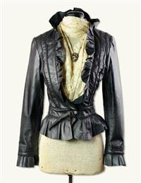 RUFFLED LAMBSKIN JACKET