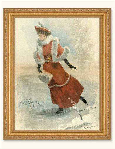 WALTZING ON ICE FRAMED PRINT