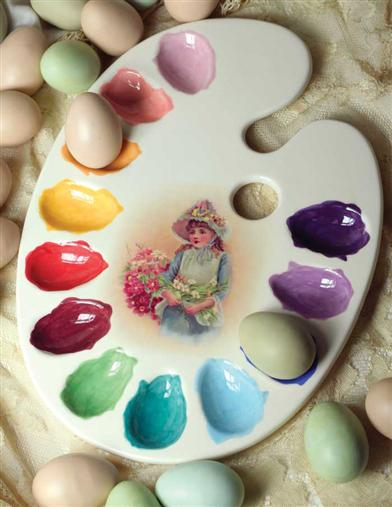PAINTER'S PALETTE EGG PLATTER