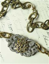 EDWARDIAN AMBIGUOUS MONOGRAM NECKLACE
