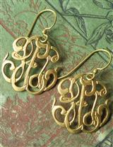 EDWARDIAN AMBIGUOUS MONOGRAM EARRINGS