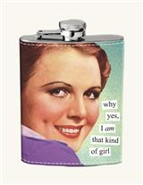 ANNE TAINTOR LADYLIKE SNORT FLASK (WHY YES)