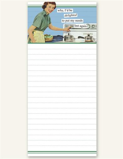 ANNE TAINTOR MAGNETIC FRIDGE LIST PAD