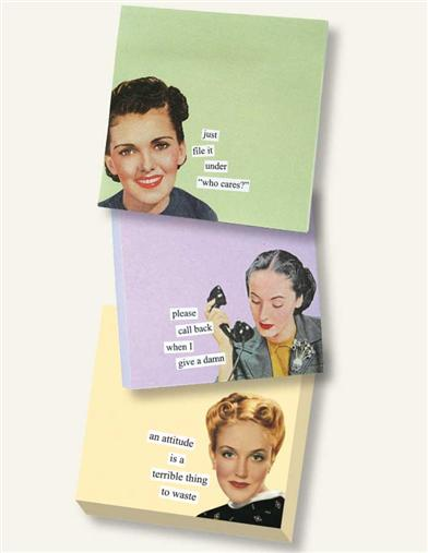 ANNE TAINTOR STICKY NOTES (SET OF 3)