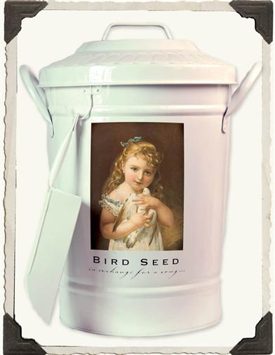 'MY PET BIRD' BIRD SEED PAIL & SCOOP