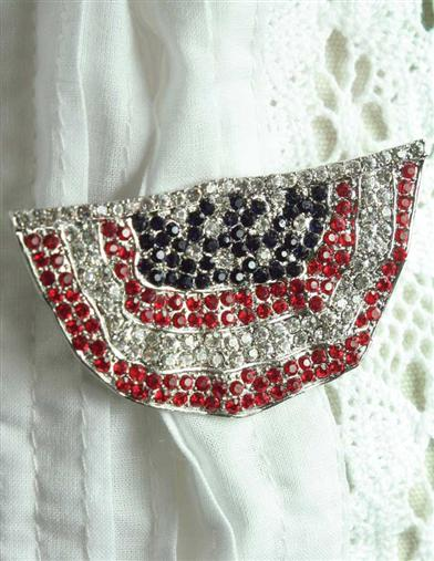 FLAG BUNTING BROOCH