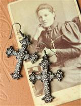 CLARISSA'S CROSS EAR PENDANTS