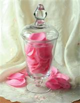 ROSEPETAL SOAPS IN APOTHECARY URN