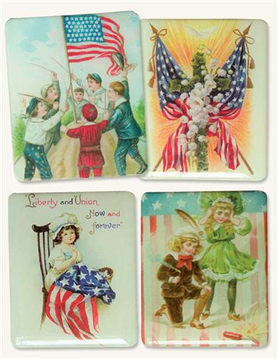 4TH OF JULY FRIDGE MAGNETS (SET OF 4)