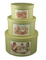 SPRING POLKA DOT NESTING BOXES (SET OF 3)