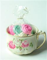 MINT CHOCOLATE ROSES IN OUR GOLDLEAF TEACUP