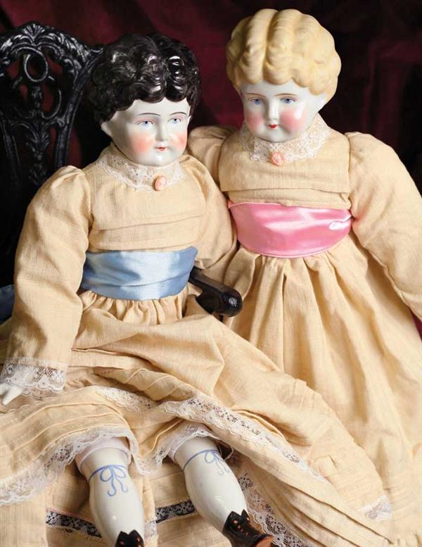 OLD NELL CHINA DOLL - Brunette Victorian China Doll