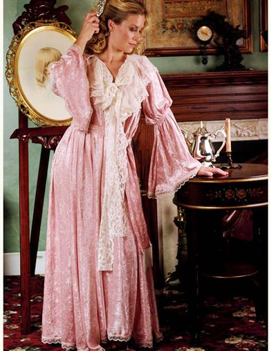 Vintage Inspired Nightgowns, Robes, Pajamas, Baby Dolls Boudoir Gown $129.95 AT vintagedancer.com